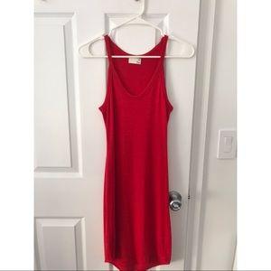 Aritzia Wilfred Free Knit Bodycon Tank Top Dress